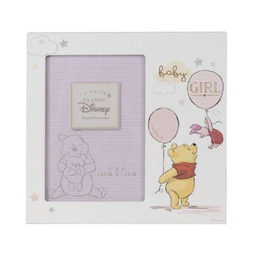 Disney Winnie The Pooh Baby Girl Photo Frame Gift for New Baby